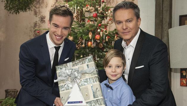 """Alfons Haider (re.) und Andreas Onea moderierten """"Licht ins Dunkel"""" (Bild: ORF)"""