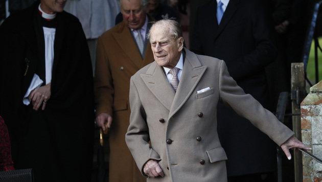 Heuer ohne seine Frau dabei: Prinz Philip (Bild: ASSOCIATED PRESS)