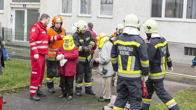 Zehn Menschen bei Wohnungsbrand gerettet (Bild: Feuerwehr Krems/Manfred Wimmer)