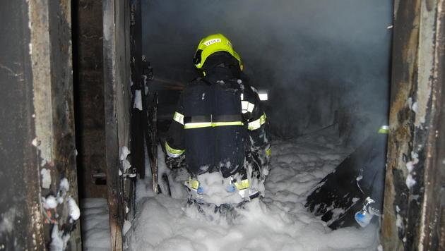 Mehrere Brände hielten Feuerwehren auf Trab (Bild: HFW Villach/KK/www.feuerwehr-villach.at)