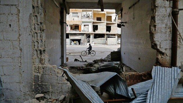 Trinkwasserquellen in und um Damaskus vergiftet (Bild: APA/AFP/ABDULMONAM EASSA)