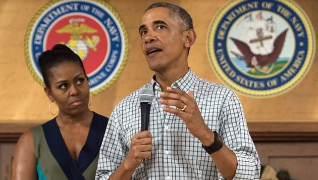 Barack Obama verbrachte Weihnachten traditionell mit seiner Frau Michelle auf Hawaii. (Bild: AFP)