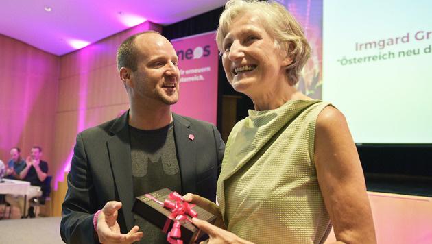 Zu NEOS-Chef Matthias Strolz unterhält Irmgard Griss gute Kontakte. (Bild: APA/HANS PUNZ)