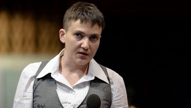 Die ukrainische Kampfpilotin Nadja Sawtschenko hat eine eigene Oppostionsbewegung gegründet. (Bild: APA/AFP/FREDERICK FLORIN)