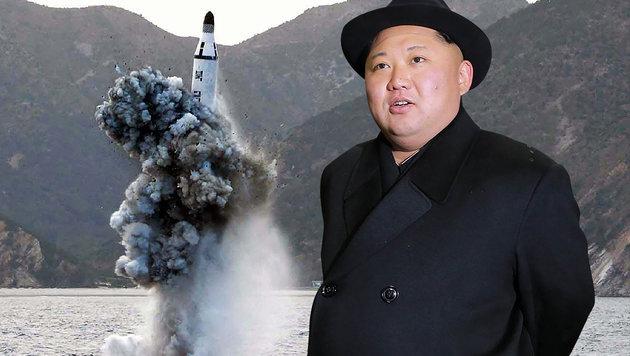 """Kims """"Atomwaffenstaat"""" soll 2017 vollendet sein (Bild: AFP/KCNA via KNS, AFP/KCNA via KNS/KCNA)"""