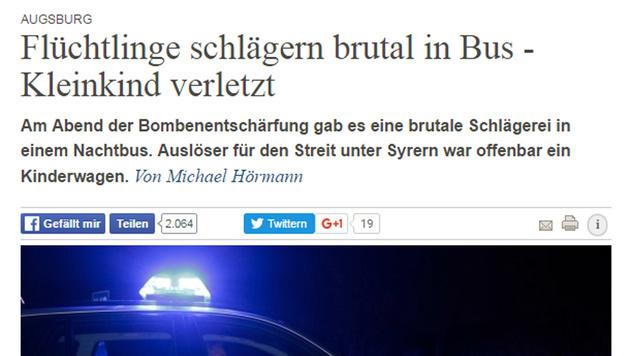 Flüchtling trat in Kinderwagen - Mädchen verletzt (Bild: augsburger-allgemeine.de)