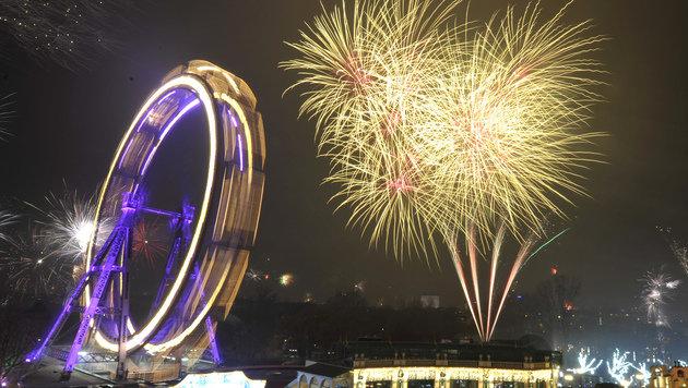 Feuerwerk in Wien im Prater (Bild: APA/HANS PUNZ)