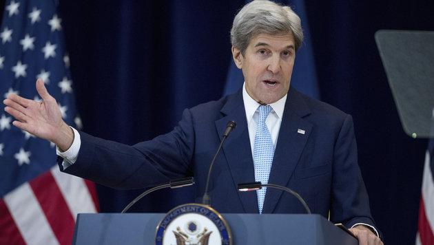 Die US-Diplomatie wurde von Russland und der Türkei ausgebremst (Bild: Außenminister Kerry). (Bild: AP)
