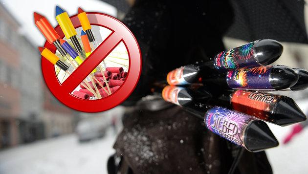 Vielerorts gilt zu Silvester ein strenges Verbot für private Feuerwerke. (Bild: thinkstockphotos.de, dpa)