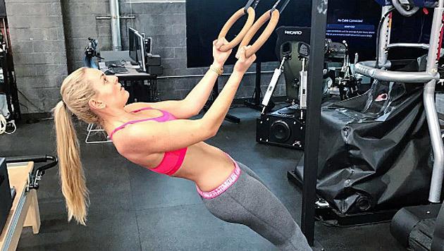 Weihnachtsurlaub? Keine Spur! Lindsey Vonn trainiert schon wieder fleißig. (Bild: Instagram)