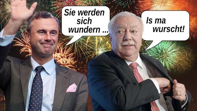 Von Hofer bis Häupl: Die Sprüche des Jahres (Bild: APA/HANS KLAUS TECHT, AP, thinkstockphotos.de)