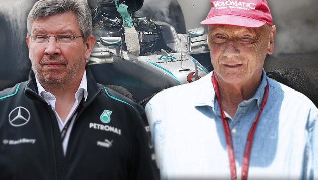 Mercedes-Erfolg: Lauda attackiert Ex-Boss Brawn! (Bild: GEPA)