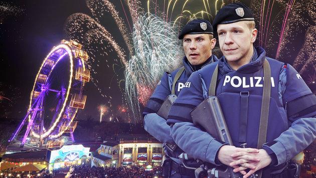 7000 Polizisten stehen zu Silvester im Einsatz (Bild: APA/HANS PUNZ, Martin A. Jöchl)