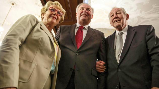 Krainer und seine Nachfolger an der steirischen ÖVP-Spitze, Klasnic und Schützenhöfer (Bild: APA/ERWIN SCHERIAU)
