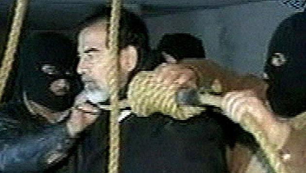 Am 30. Dezember 2006 wurde Saddam Hussein in Bagdad gehängt. (Bild: AP)