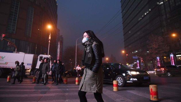 Smog ließ viele Partys in Peking platzen. (Bild: AFP)