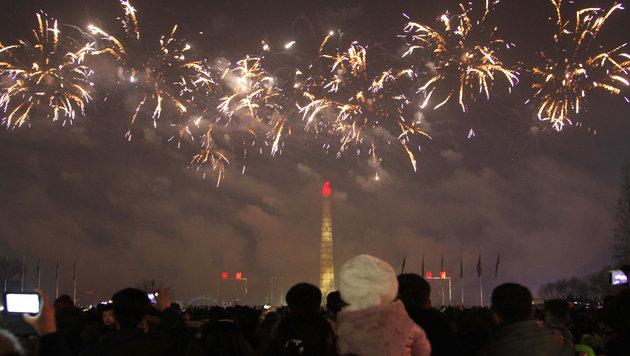 Feuerwerk in Nordkorea (Bild: AP)