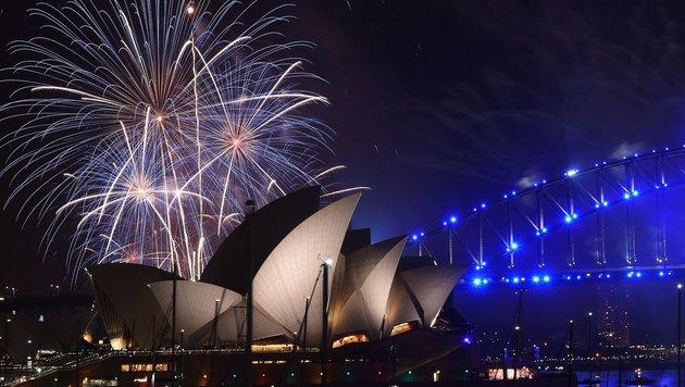 Feuerwerk über Sydney (Bild: AFP)
