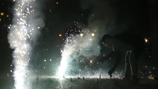 Silvester in Mumbai (Bild: AP)