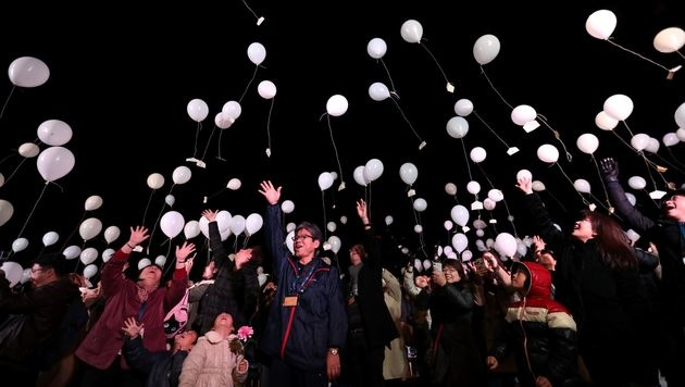 Die Welt hat das Jahr 2017 ausgelassen begrüßt (Bild: APA/AFP/BEHROUZ MEHRI)