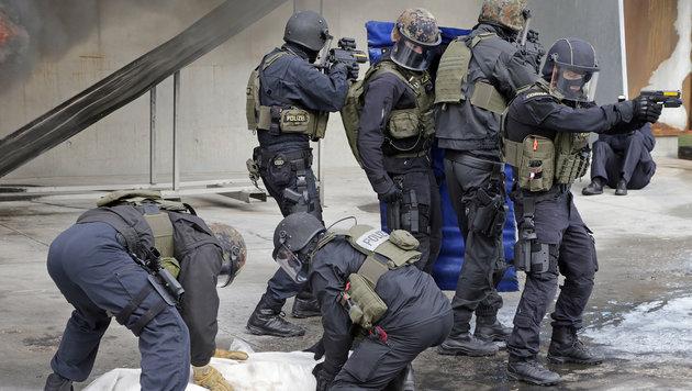 Einsatzübung der Cobra: Die Spezialisten trainieren - auch mit dem Heer - konkrete Szenarien. (Bild: Klemens Groh)