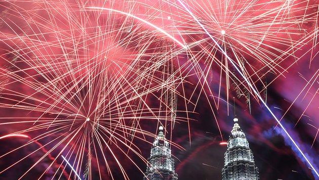 Feuerwerk in Malaysia (Bild: AFP)