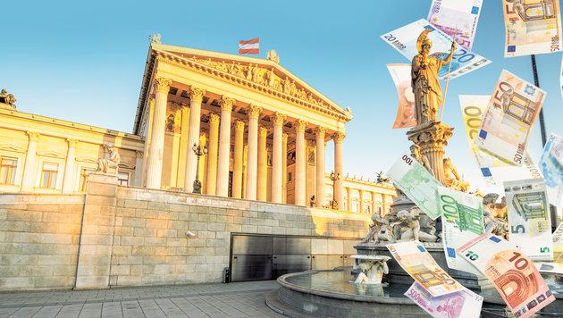 """Gehaltsrangliste: Sind Politiker ihr Geld wert? (Bild: """"Krone""""-Grafik)"""