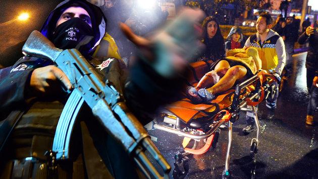 Istanbul: Dutzende Tote bei Angriff auf Nachtclub (Bild: AFP/IHLAS NEWS AGENCY, AFP/YASIN AKGUL)