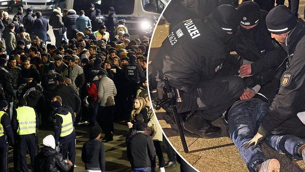 Polizei verhinderte neue Silvester-Katastrophe (Bild: EPA/RONALD WITTEK, EPA/HENNING KAISER)