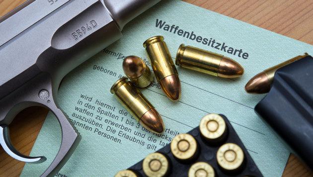 Österreicher rüsten auf: Waffenkäufe gestiegen (Bild: APA/dpa-Zentralbild/Patrick Pleu (Symbolbild))