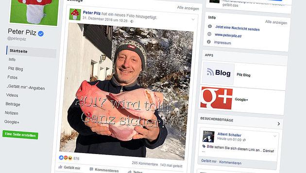 Vielen Facebook-Usern stieß der Neujahrsgruß des Grünen-Politikers sauer auf. (Bild: Screenshot facebook.com)
