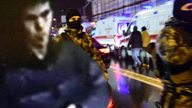 Das Bild links soll den Terroristen zeigen, der in dem Istanbuler Nachtclub 39 Menschen getötet hat. (Bild: APA/AFP/YASIN AKGUL, Cumhuriyet)
