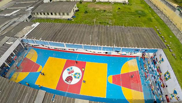 Eine Luftaufnahme des Gefängnisses, in dem sich der Aufstand ereignet hat (Bild: AFP)