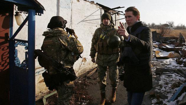 Sebastian Kurz auf Besuch in der Ukraine (Bild: APA/BMEIA/DRAGAN TATIC)