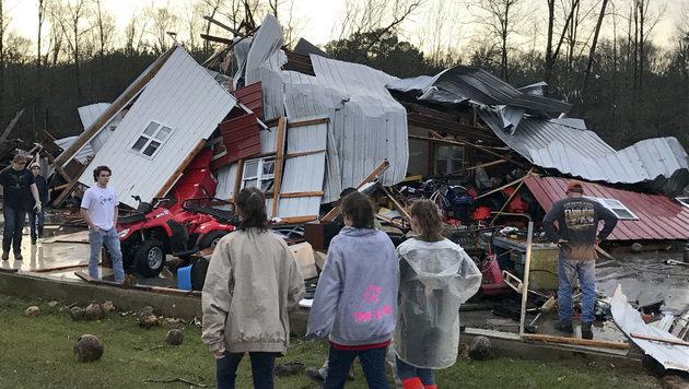 Tote bei Tornado-Serie im Südosten der USA (Bild: Associated Press)
