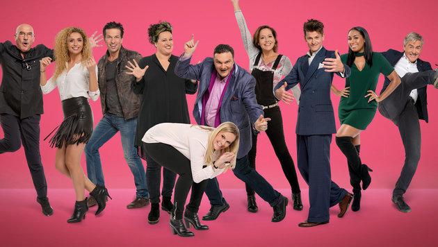 """Die zehn neuen """"Dancing Stars"""" sind komplett. (Bild: ORF)"""