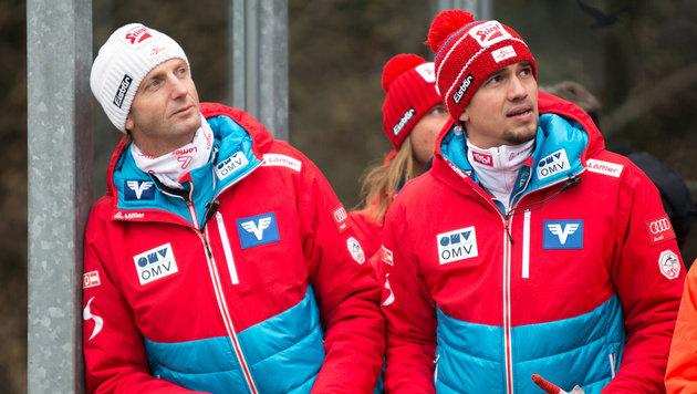 Die österreichischen Trainer Heinz Kuttin und Florian Liegl (Bild: APA/EXPA/JAKOB GRUBER)