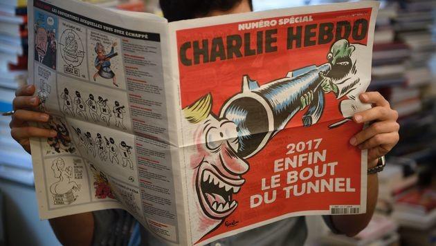 """""""Charlie Hebdo"""" mit Sonderheft zum Jahrestag (Bild: AFP)"""