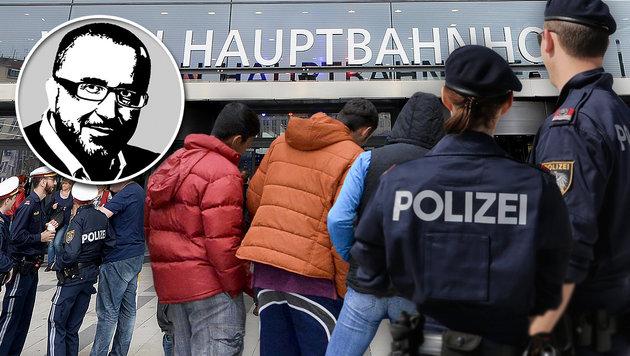 Große Sicherheitslücken am Wiener Hauptbahnhof (Bild: Klemens Groh, APA/Herbert Neubauer, APA/Roland Schlager)