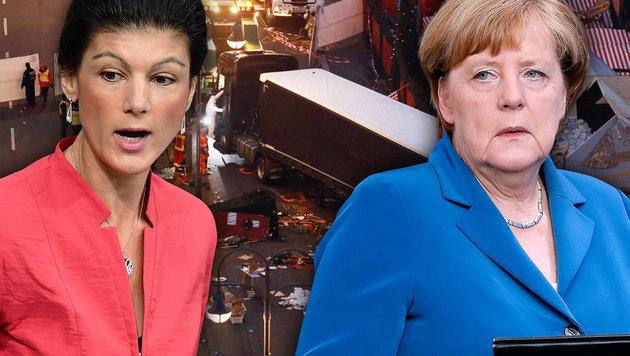 """""""Merkel hat Mitverantwortung für Berlin-Anschlag"""" (Bild: AFP/ODD ANDERSEN, AFP/TOBIAS SCHWARZ, AP/Michael Sohn)"""