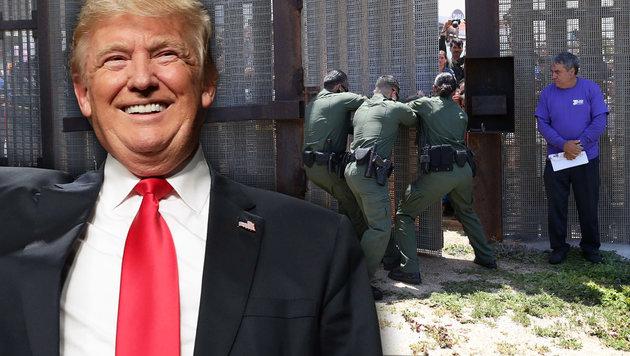 Trump will eine Mauer an der Grenze zu Mexiko bauen. (Bild: APA/AFP/GETTY IMAGES/JOHN MOORE, AFP/CHIP SOMODEVILLA)