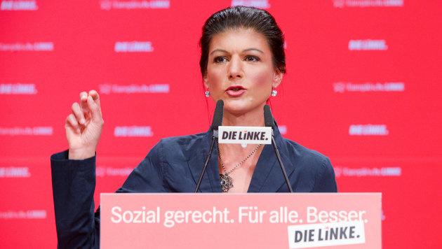 Sahra Wagenknecht, die Fraktionsvorsitzende der Partei Die Linke im Bundestag (Bild: APA/dpa-Zentralbild/Peter Endig)