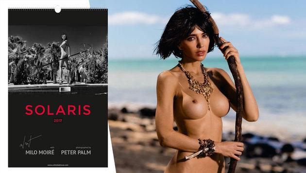 Nacktkünstlerin Milo Moiré lässt Sonne scheinen (Bild: Peter Palm)