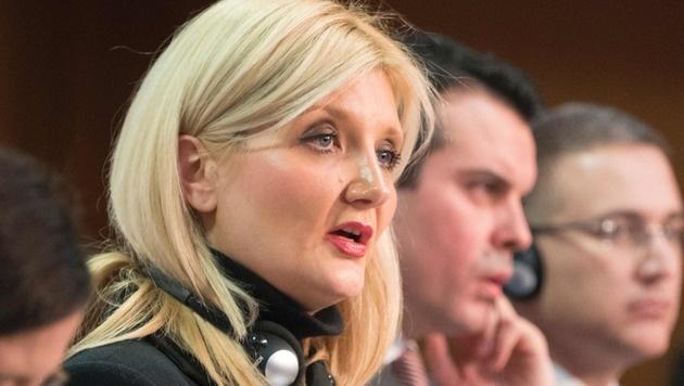 Sloweniens Innenministerin Vesna Györkös Znidar (Bild: APA/AFP/JOE KLAMAR)