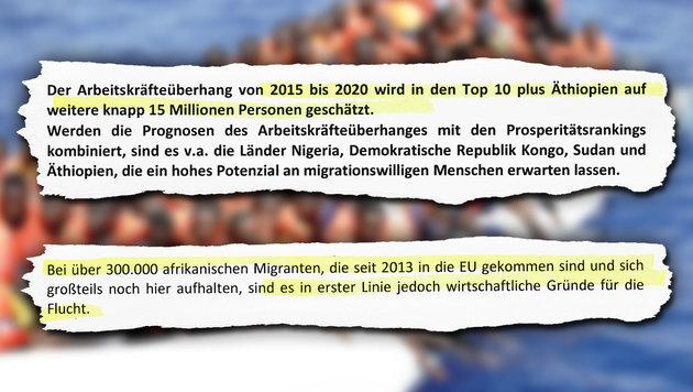 Doskozils Plan: Keine Asylanträge mehr in Europa (Bild: AFP/YARA NARDI)