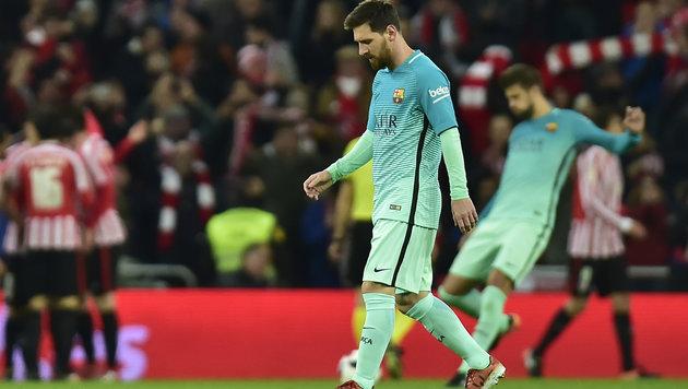 Barcelona strauchelt im Cup: Niederlage in Bilbao! (Bild: AP)