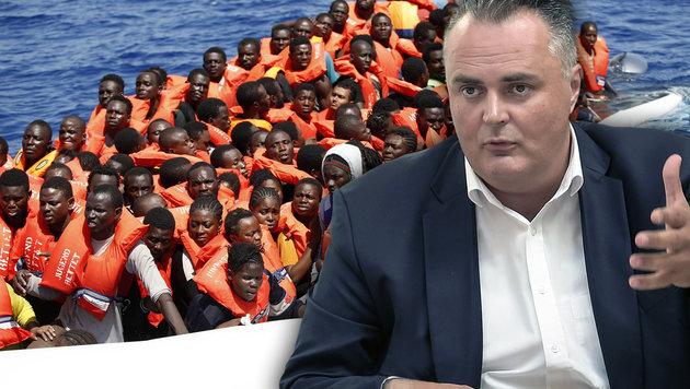 Doskozils Plan: Keine Asylanträge mehr in Europa (Bild: AFP/YARA NARDI, APA/HBF/PUSCH)