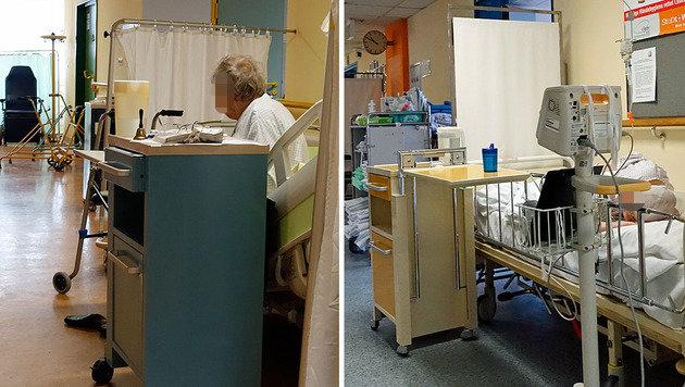 Gangbetten in einem Wiener Spital (Bild: Reinhard Holl)