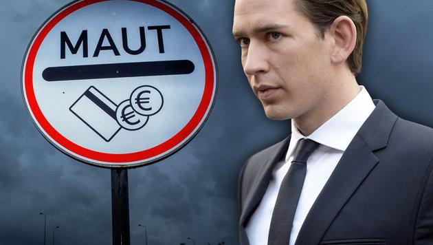Kurz probt Aufstand gegen deutsche Maut-Abzocke (Bild: APA/dpa-Zentralbild/Jens Büttner, APA/HANS PUNZ)