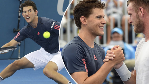 Start nach Maß für Dominic Thiem in Brisbane (Bild: AP)